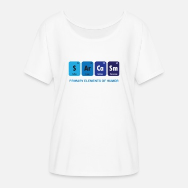 Element Funny - Sarkasmus - Element - Blau - Lustig - Cool - Frauen T-Shirt mit Fledermausärmeln von Bella + Canvas