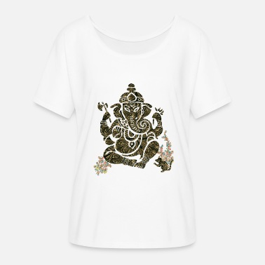 Indianer-style Buddha Indian Style - Frauen T-Shirt mit Fledermausärmeln von Bella + Canvas