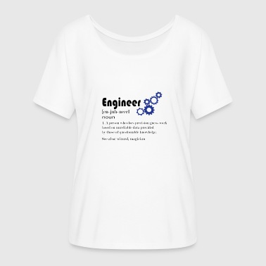 Engineer Definition Engineer engineer technician definition diploma - Women's Batwing-Sleeve T-Shirt by Bella + Canvas
