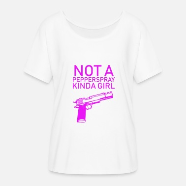 Gun Club Gun Girl no Papperspray Guns armes de tir - T-shirt manches chauve-souris Femme Bella + Canvas