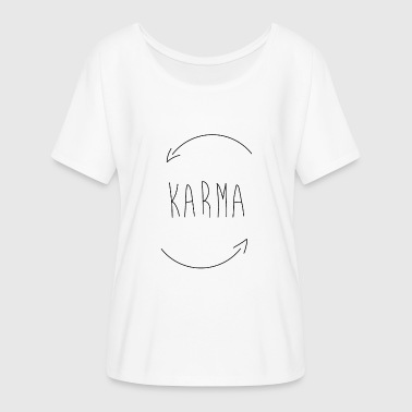 karma - Women's Batwing-Sleeve T-Shirt by Bella + Canvas