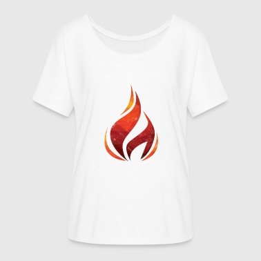 Rekindle Fire flame fire brigade gift heat forest fire - Women's Batwing-Sleeve T-Shirt by Bella + Canvas