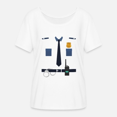 Kids Carnival Policeman Police Uniform Kids Carnival Costume - Women's Batwing-Sleeve T-Shirt by Bella + Canvas