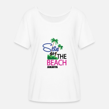 Jakarta The beach of Jakarta - Women's Batwing-Sleeve T-Shirt by Bella + Canvas