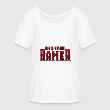 Serie Gamer - Dame T-shirt med flagermusærmer fra Bella + Canvas