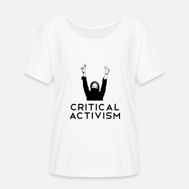 Criticism Critical Activism Critical Activist AntiFa - Women's Batwing-Sleeve T-Shirt by Bella + Canvas