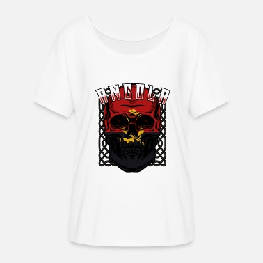 Luanda Cráneo angoleño Angola Luanda idea regalo - Camiseta mujer con  mangas murciélago 3733761abaf0