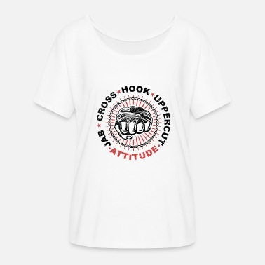 Uppercut Jab Cross Hook Uppercut - Women's Batwing-Sleeve T-Shirt by Bella + Canvas