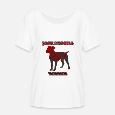 Jack Russell Terrier Perro / Jack Russell Jack Russell Terrier - Camiseta mujer con mangas murciélago de Bella + Canvas