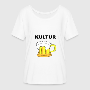 Coffee Culture Beer Culture Oktoberfest Beer Marathon Gift Idea - Women's Batwing-Sleeve T-Shirt by Bella + Canvas