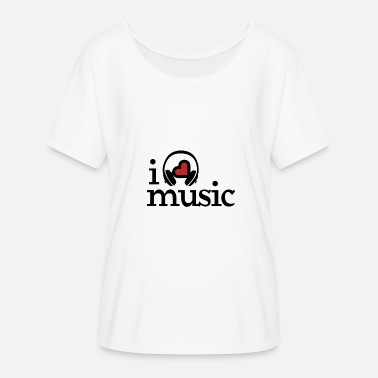 I Love Music I love music music I love music - Women's Batwing-Sleeve T-Shirt by Bella + Canvas
