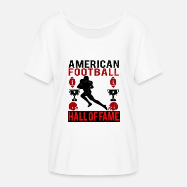 Hall Of Fame Amerikansk Fotball Hall of Fame logo rød - T-skjorte med flaggermusermer for kvinner fra Bella + Canvas