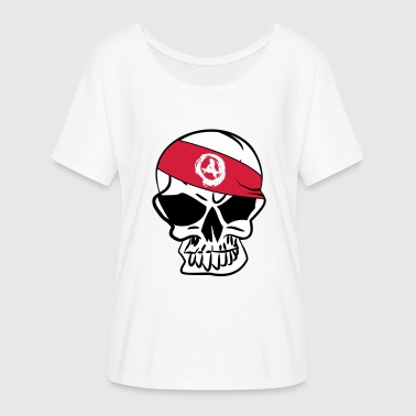 Anarcho Capitalism Anarcho Skull Anarchy anarchy - Women's Batwing-Sleeve T-Shirt by Bella + Canvas