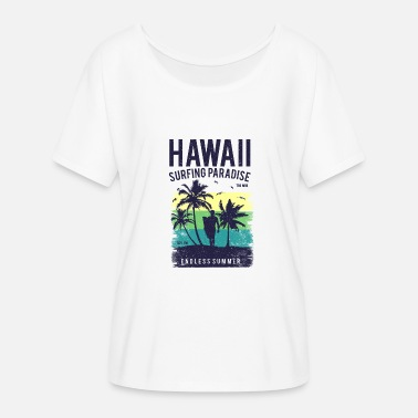 Hawaii Hawaii surfer paradise palms beach and vacation - Women's Batwing T-Shirt