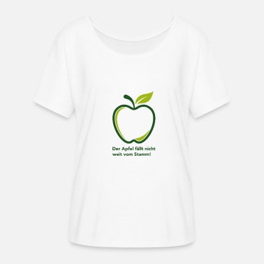 Far The apple does not fall far from the trunk! - Women's Batwing T-Shirt