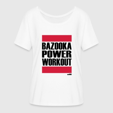 Bazooka Bazooka POWER WORKOUT - Dame T-shirt med flagermusærmer fra Bella + Canvas