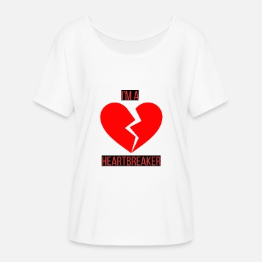 Heartbreakers Heartbreaker Edition - Dame T-shirt med flagermusærmer fra Bella + Canvas