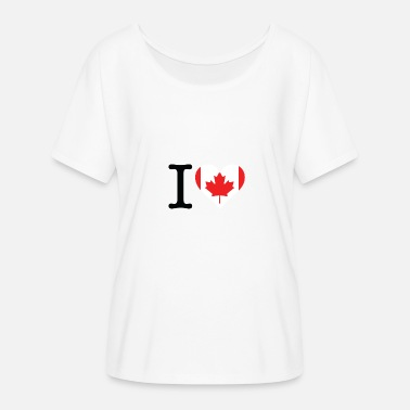 Celine Dion I Love Canada - Women's Batwing-Sleeve T-Shirt by Bella + Canvas