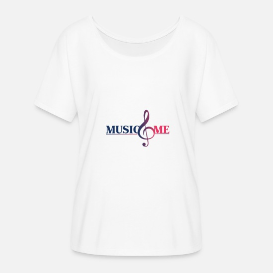 Music T-Shirts - musical note - Women's Batwing T-Shirt white