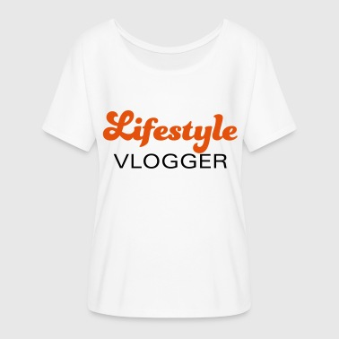 Vlogger Lifestyle Vlogger - Women's Batwing-Sleeve T-Shirt by Bella + Canvas
