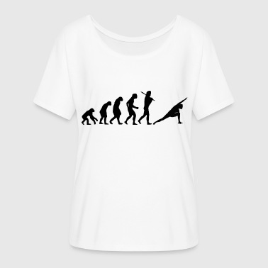 Bikram Yoga Yoga Gymnastics Gift Evolution - Women's Batwing-Sleeve T-Shirt by Bella + Canvas
