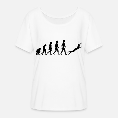 Bathing Suit Diver diving diver diving underwater evolution - Women's Batwing-Sleeve T-Shirt by Bella + Canvas