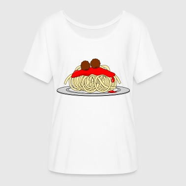 spaghetti pasta noodles lasagna macaroni noodles28 - Women's Batwing-Sleeve T-Shirt by Bella + Canvas