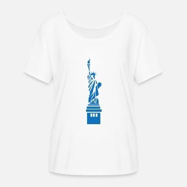 We Are Boston statue of Liberty - Women's Batwing-Sleeve T-Shirt by Bella + Canvas