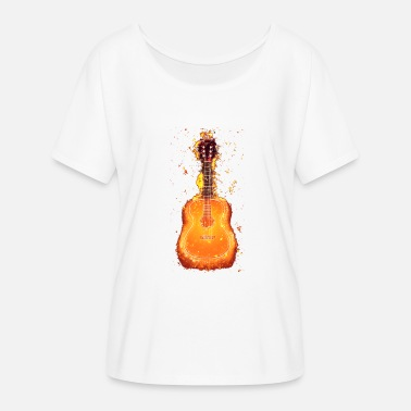Acoustic Guitar Acoustic guitar burning acoustically - Women's Batwing-Sleeve T-Shirt by Bella + Canvas