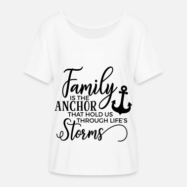 Family is the anchor Gift Family Grandma Grandpa Mama - Women's Batwing T-Shirt