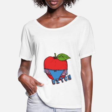 Healthy Underwear Apple Thong Underwear Bitch Funny Sexy - Women's Batwing T-Shirt