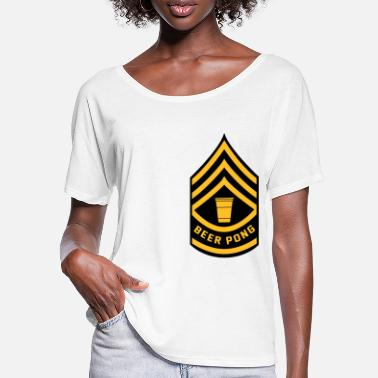 Beer Pong Beer Pong Army Patch - Women's Batwing T-Shirt