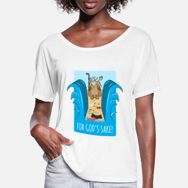 Moses For heaven's sake! Garbage plastic ocean shirt - Women's Batwing T-Shirt