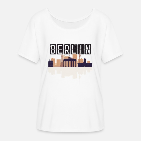 Stadium T-Shirts - Berlin Skyline Shirt - Women's Batwing T-Shirt white