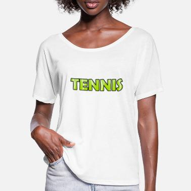 I Love Tennis Great tennis gift for tennis players - Women's Batwing T-Shirt