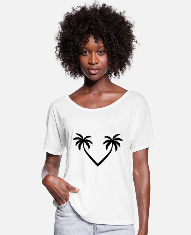 Surf T-Shirts - palm tree holiday - Women's Batwing T-Shirt white