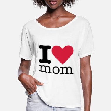 I Love Mom I Love Mom - T-skjorte med flaggermusermer for kvinner
