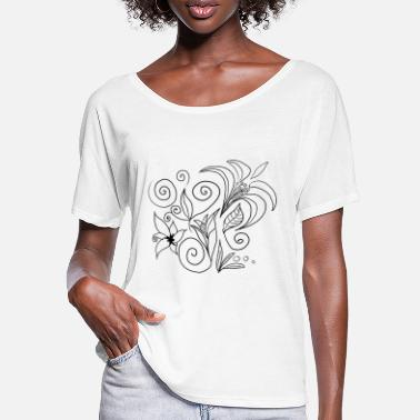 flowers pattern - Women's Batwing T-Shirt