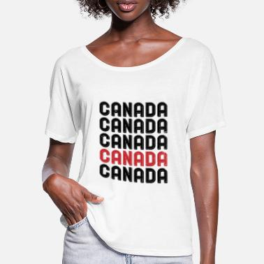 Canada Canada Canada - T-shirt med flagermusærmer dame