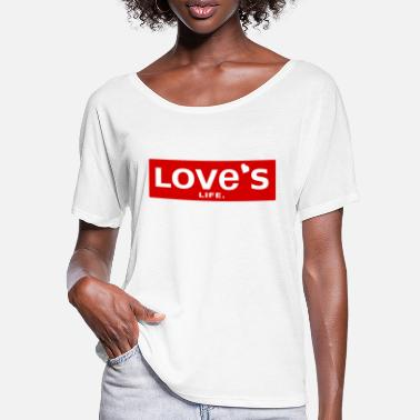 Love is life - Levis Style love gift - Women's Batwing T-Shirt