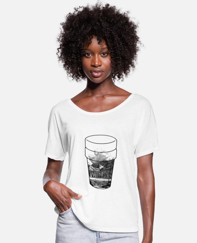 Rap T-Shirts - Nature Doublecup - Women's Batwing T-Shirt white