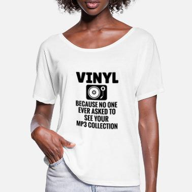 Vinyl Vinyl Records Collectible Record Player - Women's Batwing T-Shirt