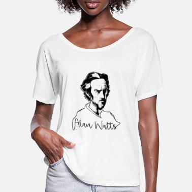 Alan Alan Watts Philosophy Buddhism Enlightenment - Women's Batwing T-Shirt