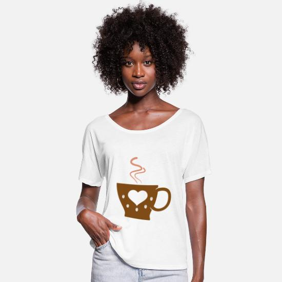 Coffee Bean T-Shirts - Cappuccino cup of coffee - Women's Batwing T-Shirt white