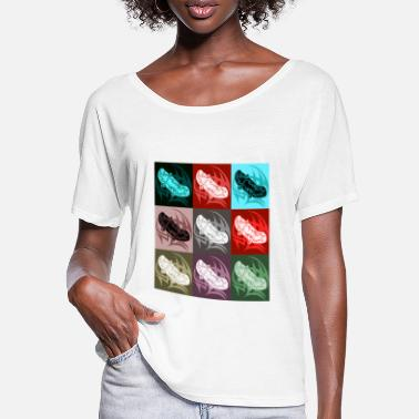 skateboards colorful - Women's Batwing T-Shirt