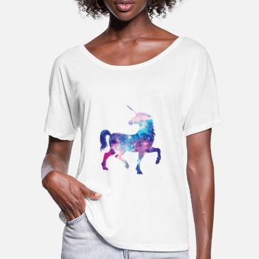 Unicorn with constellation design - Women's Batwing T-Shirt