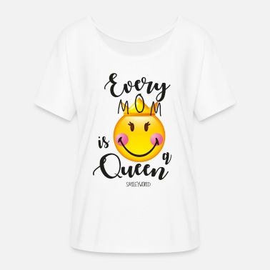 SmileyWorld Every Mom Is A Queen - Women's Batwing T-Shirt