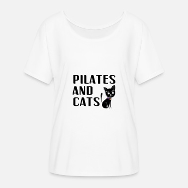 Pilates And Cats Owner Lover Instructor Teacher - Women's Batwing T-Shirt