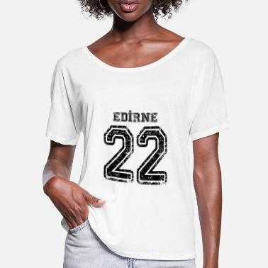 Edirne 22 Edirne Turkish license plate as a gift - Women's Batwing T-Shirt