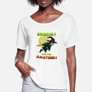 Witches Broom Witch on witches broom - Women's Batwing T-Shirt